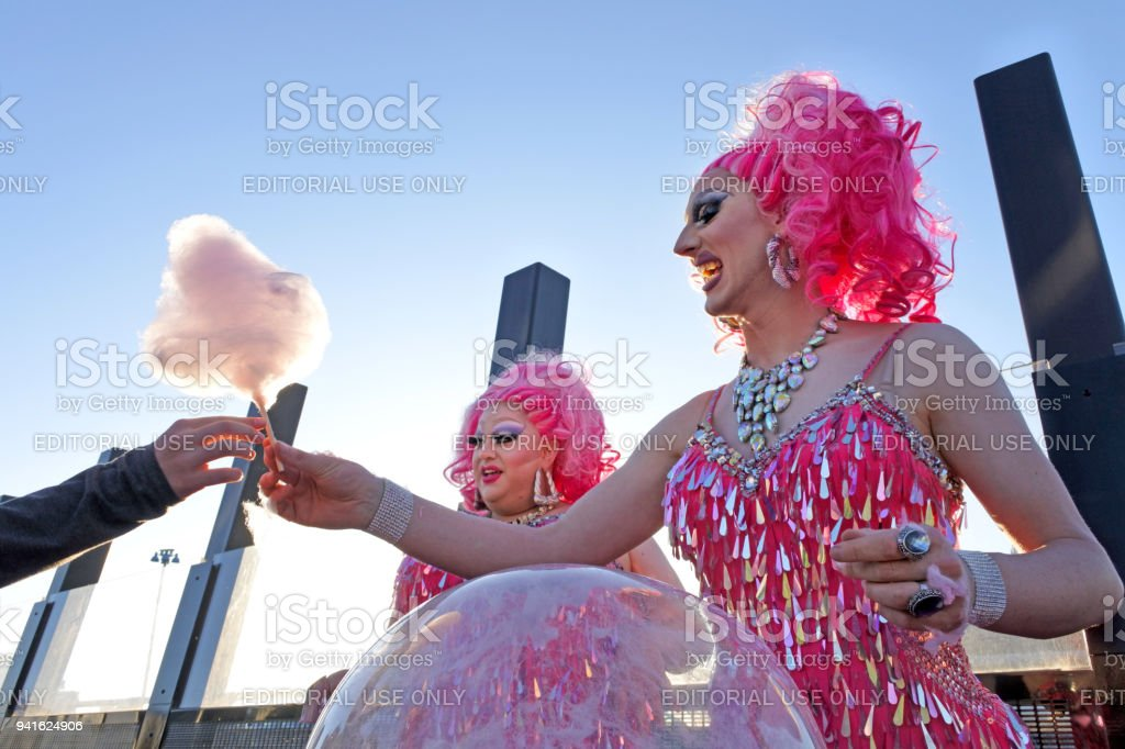 Drag queens sale Cotton candy stock photo