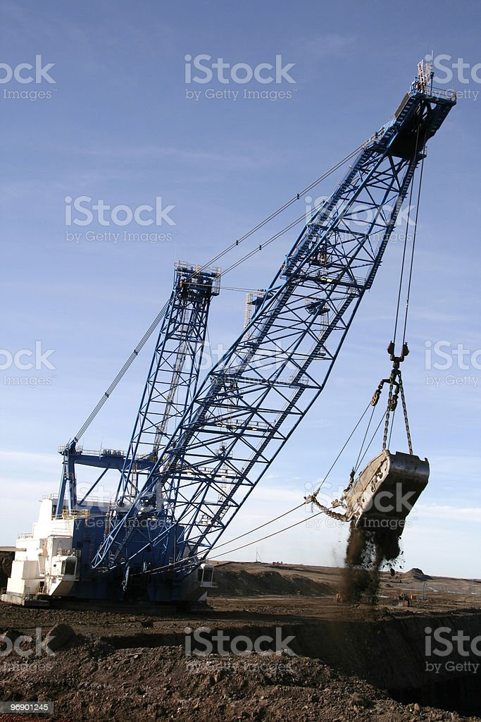 Dragline Head On royalty-free stock photo