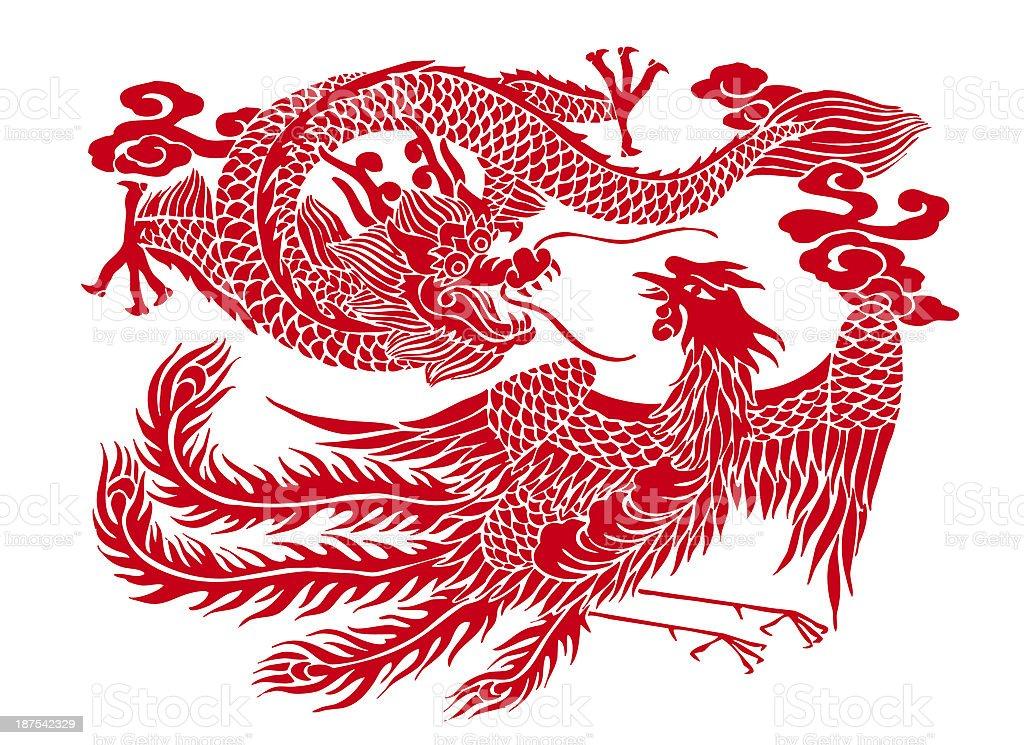 dragon y de Phoenix - foto de stock