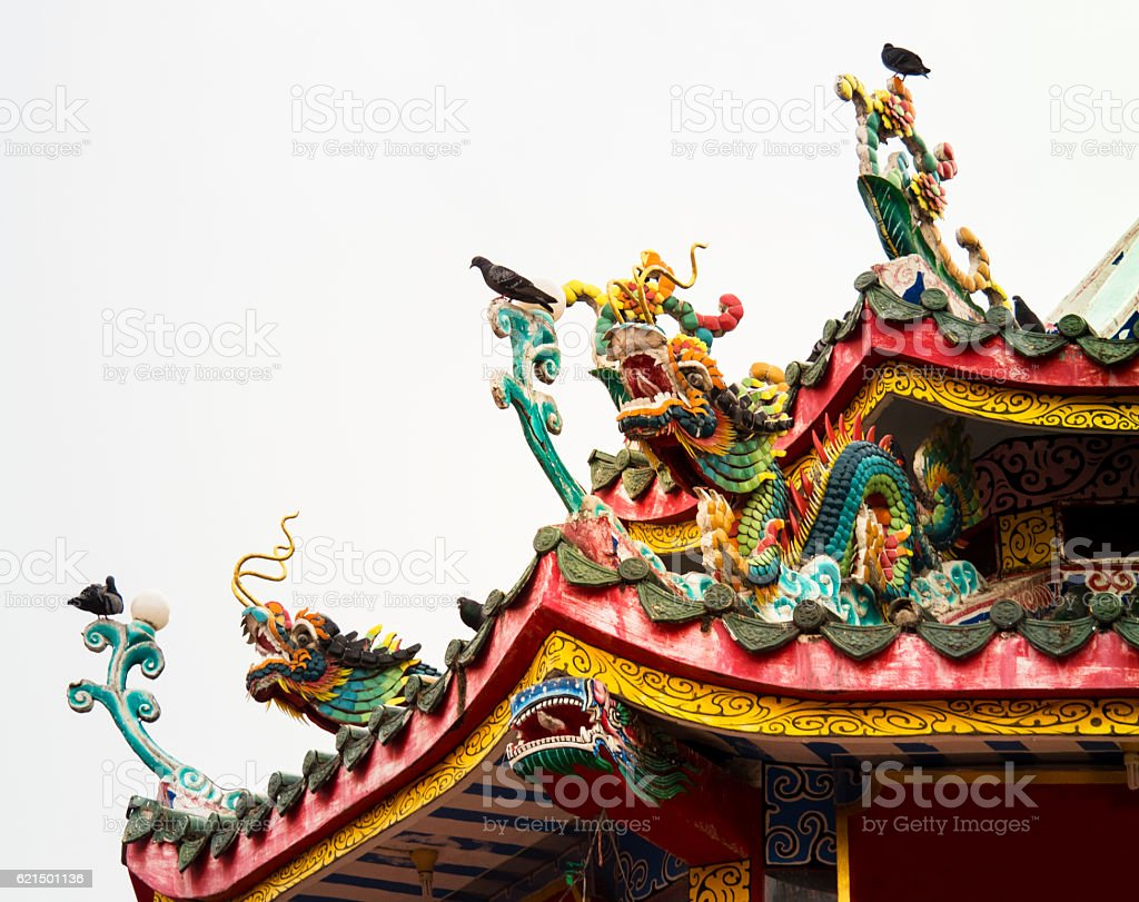 Dragon Art Style : Chinese temple foto stock royalty-free