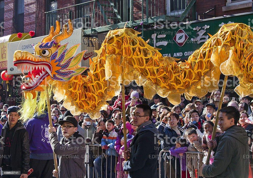 Dragon at Chinese New Year Parade stock photo