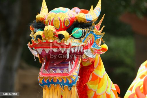 Colorful Dragon at Chinese new Year parade