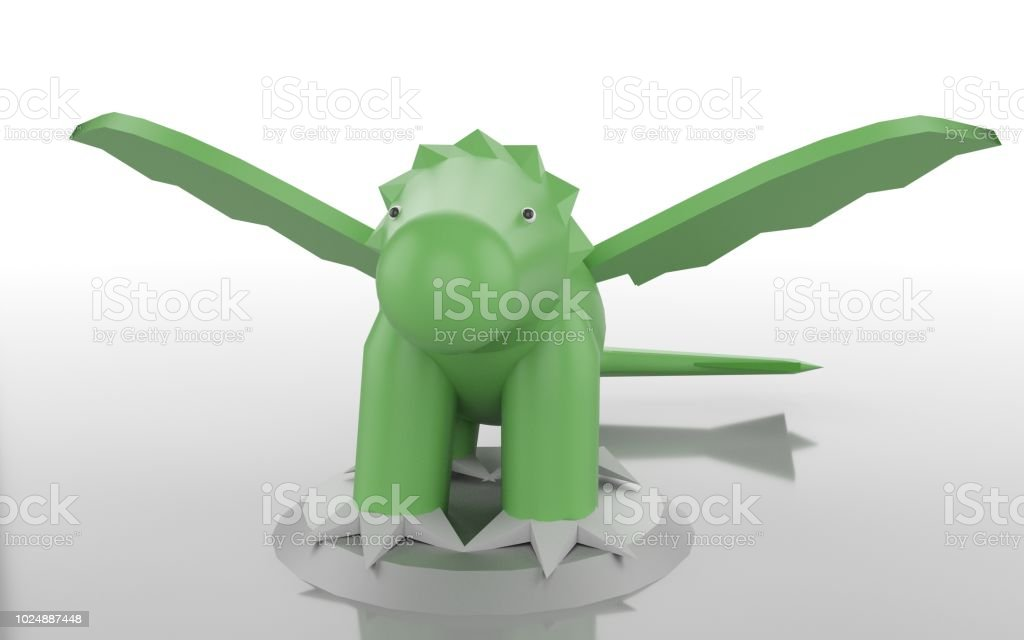 dragon babe 3d render. stock photo
