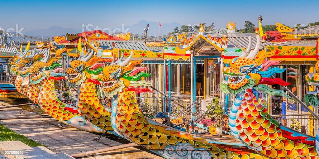Dragon boat, Hue Vietnam colorfull, head, ship, animal body part, asia Animal Stock Photo