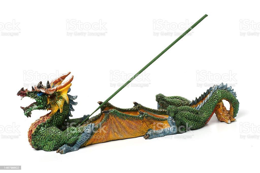 dragon figurine for incense sticks royalty-free stock photo