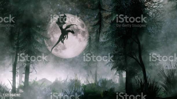 Photo of Dragon flying at night
