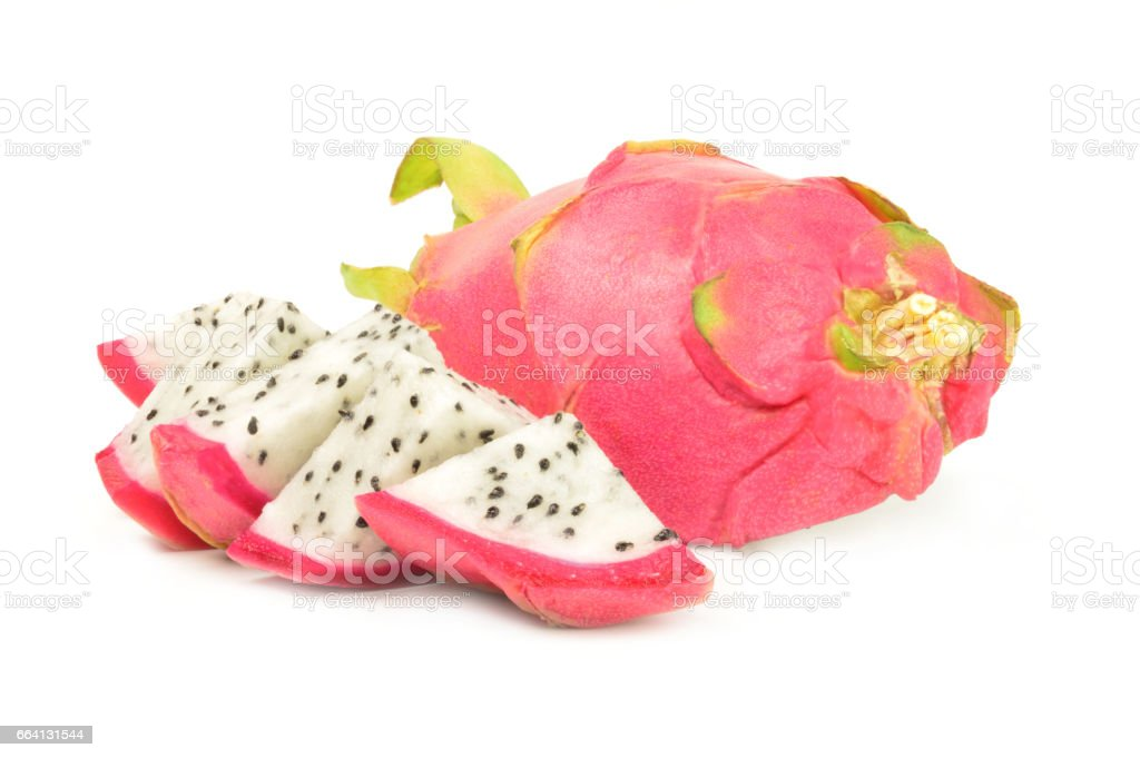 Dragon fruit isolated on a white background cutout foto stock royalty-free