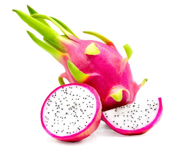 Dragon fruit isolated on white background with clipping path Dragon fruit isolated on white background pitaya stock pictures, royalty-free photos & images