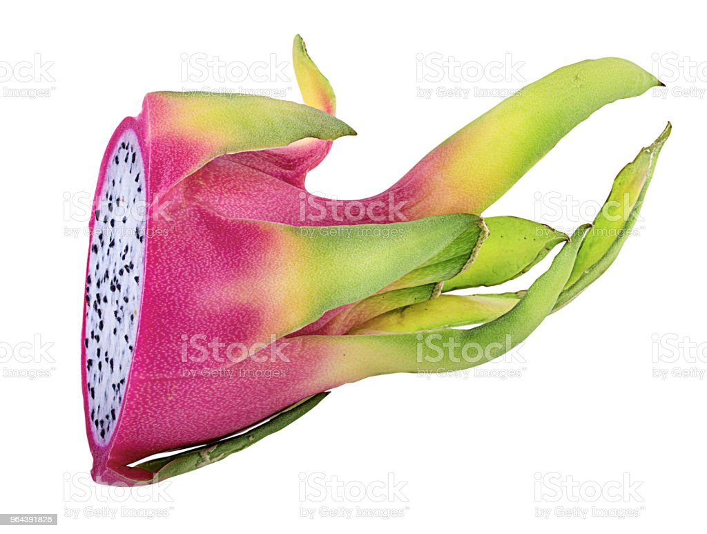 Dragon fruit geïsoleerd op wit - Royalty-free Biologisch Stockfoto