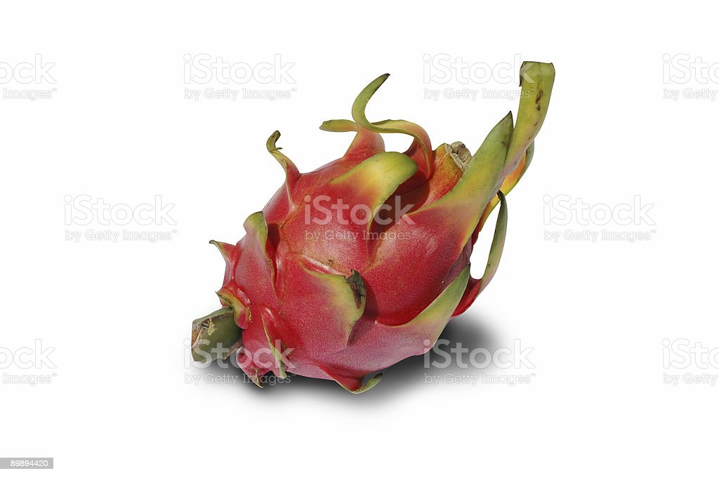 Dragon frutas aislado con trazado de recorte foto de stock libre de derechos