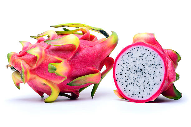 Dragon Fruit Dragon Fruit (Pitaya or Pitahaya) isolated on white background pitaya stock pictures, royalty-free photos & images