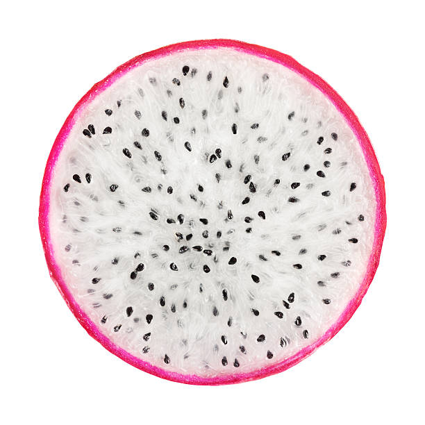 Dragon Fruit Portion On White Dragon fruit portion on white background. Clipping path included.Tropical fruits from pitaya stock pictures, royalty-free photos & images