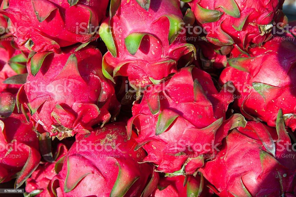 Dragon fruits at the market, Vietnam royalty-free stock photo