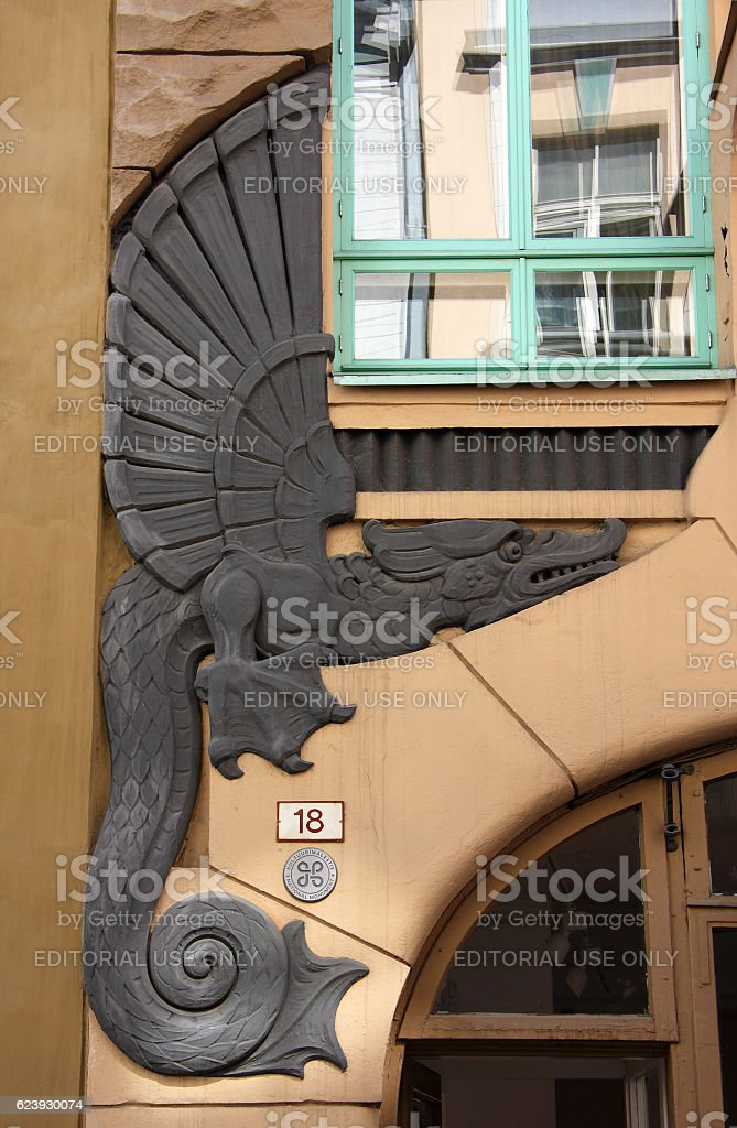 Dragon Gallery, Pikk 18, Tallinn, Estonia. By Jacques Rosenbaum. stock photo