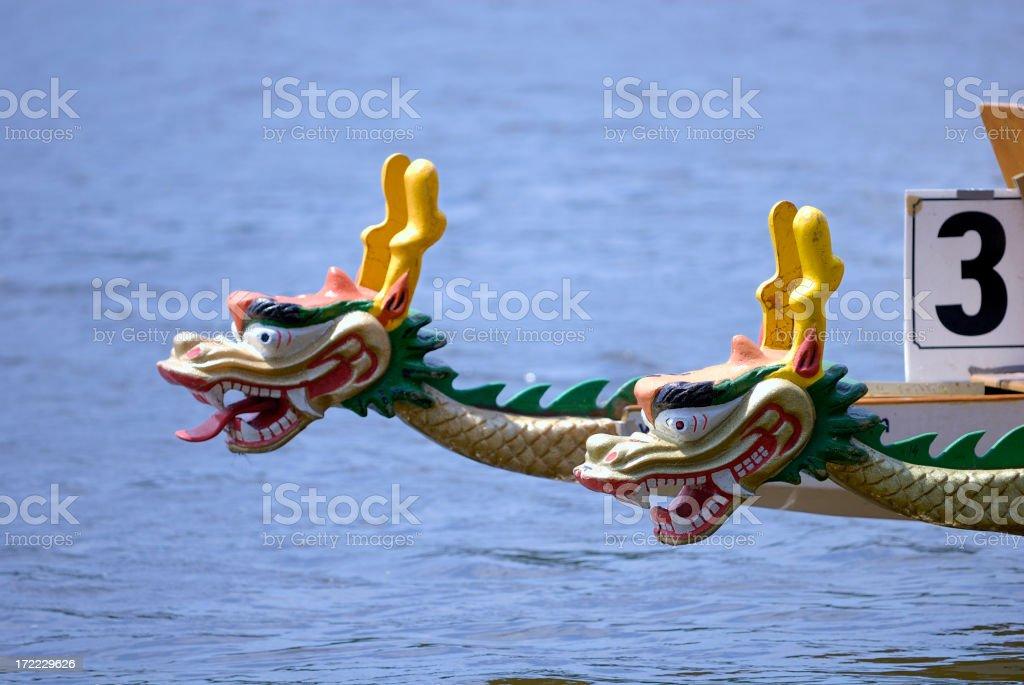 Dragon heads royalty-free stock photo