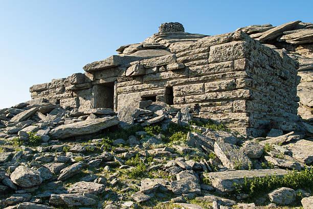 Dragon house in Greece stock photo