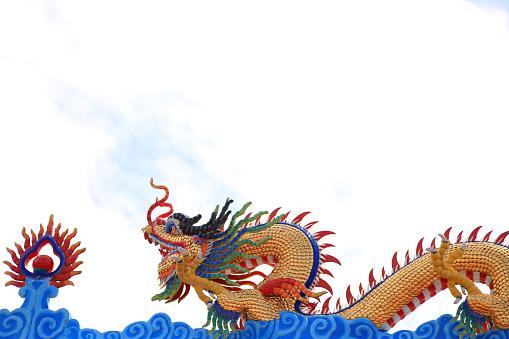 Dragon Of Shrine Chinese Dragon Of Shrine Stock Photo ...