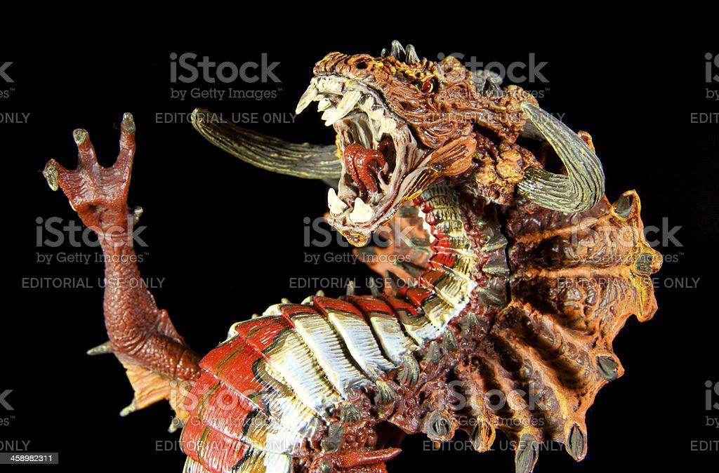 Dragon on Black royalty-free stock photo