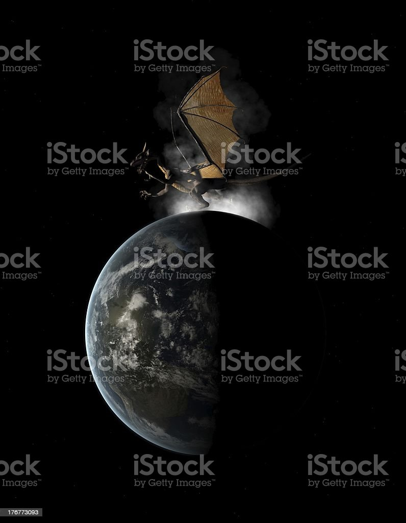 Dragon on Earth royalty-free stock photo