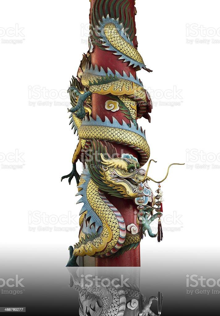 dragon on pole royalty-free stock photo