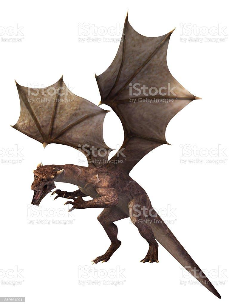 Dragon on white background stock photo