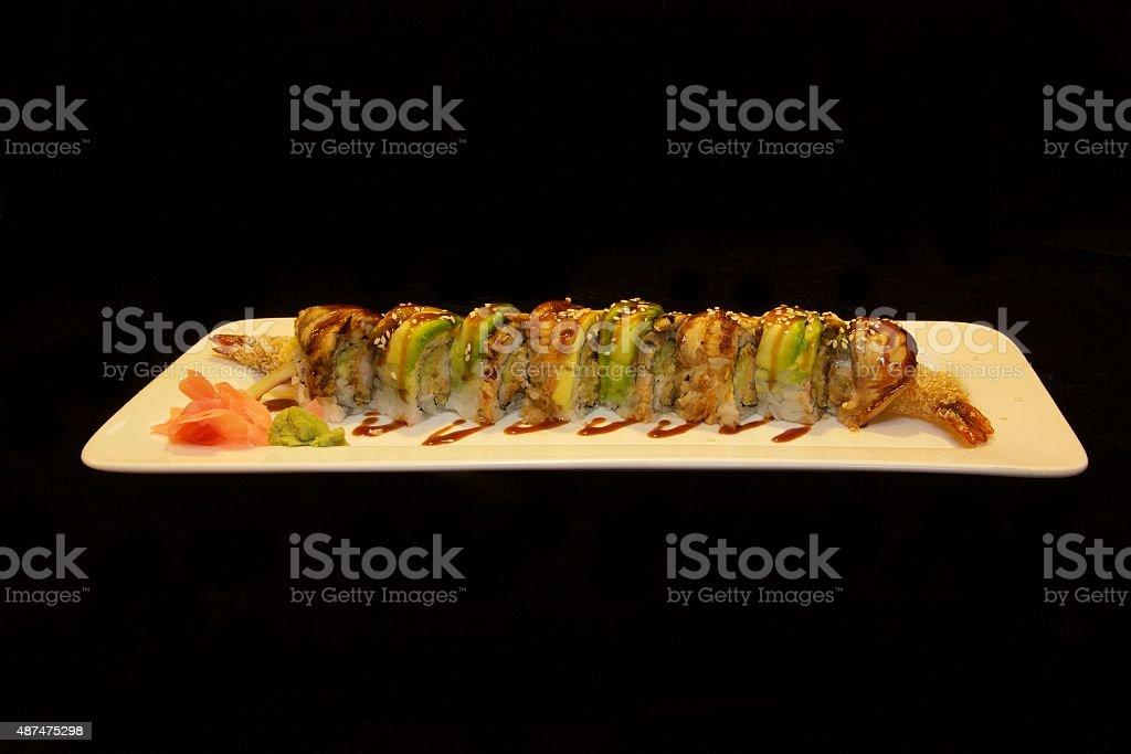 Dragon Roll stock photo