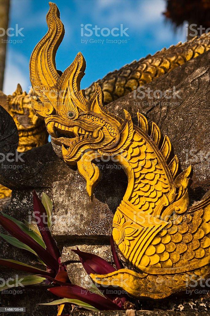 Dragon sculpture royalty-free stock photo