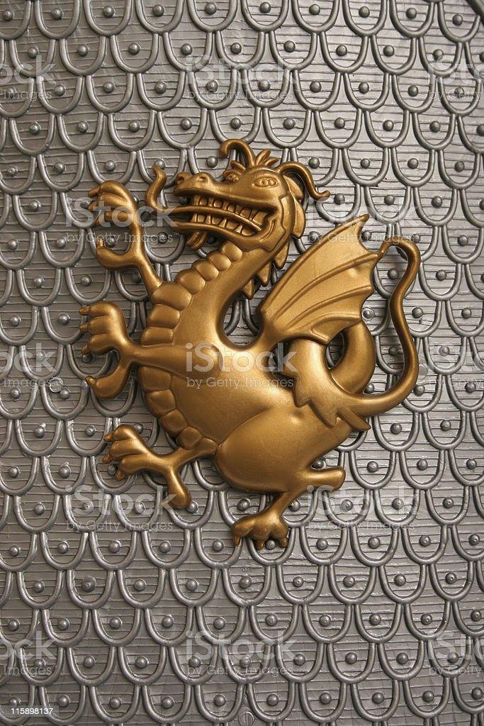 Dragon Shield Emblem royalty-free stock photo