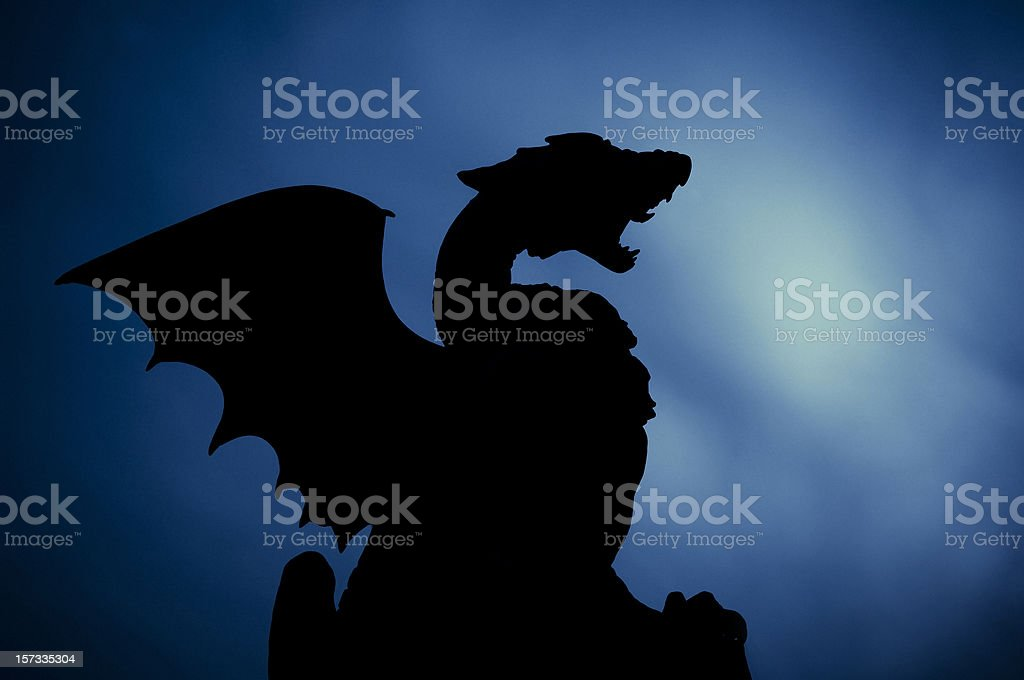 Dragon Silhouette stock photo
