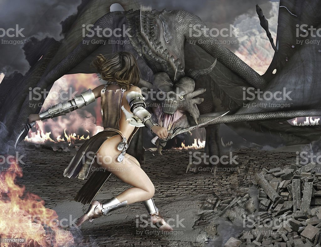 Dragon Slayer royalty-free stock photo