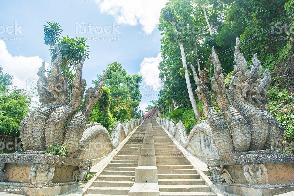 Dragon staircase stock photo