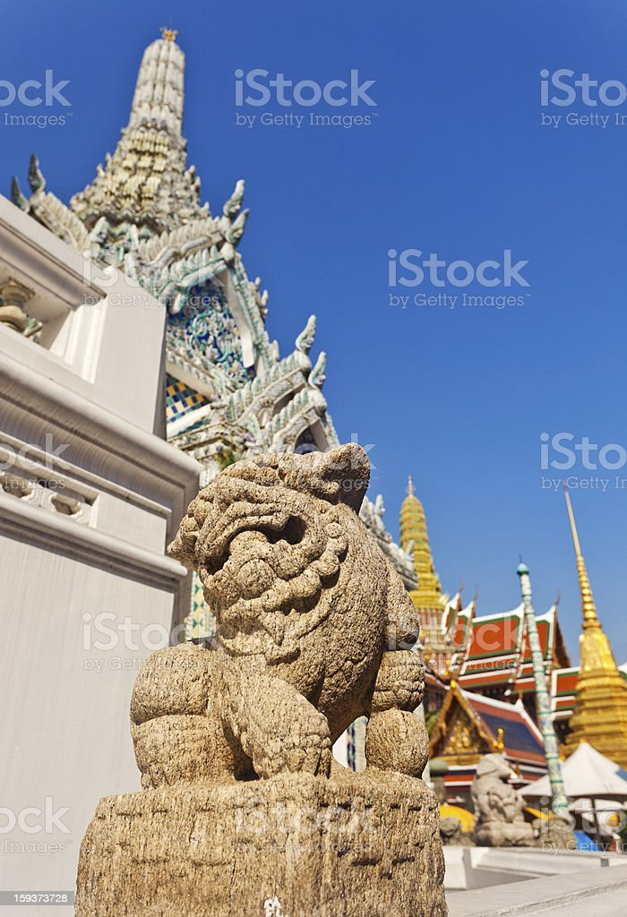 Dragon Statue At The Grand Palace stock photo