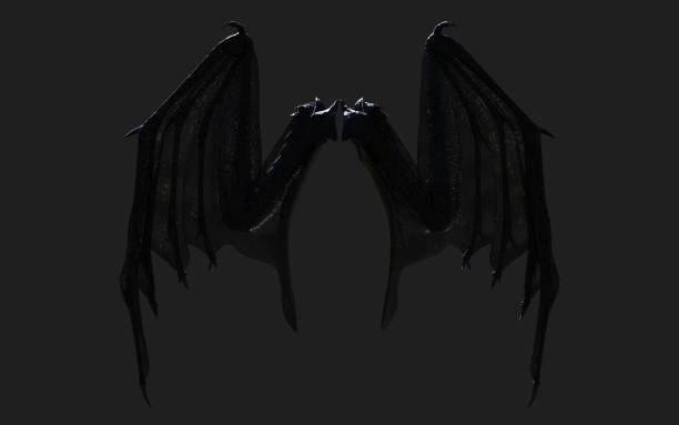 Dragon Wing verenkleed geïsoleerd met uitknippad. foto