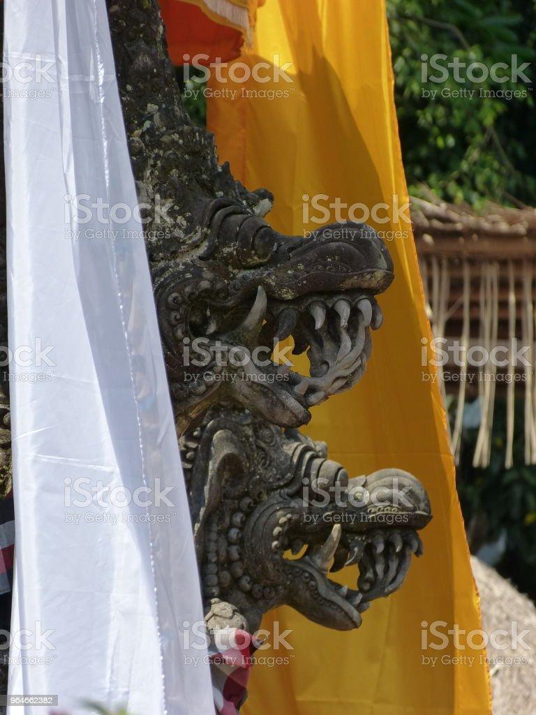 Drachen in einem balinesischen Tempel – Foto