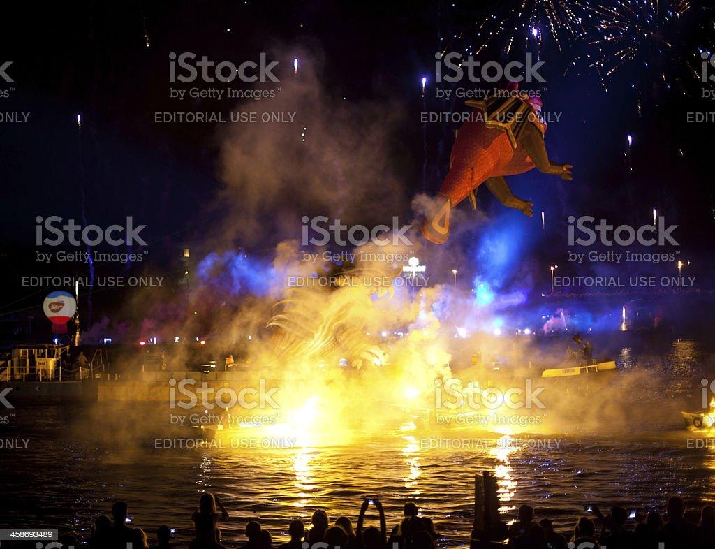 Drachen-Parade Lizenzfreies stock-foto