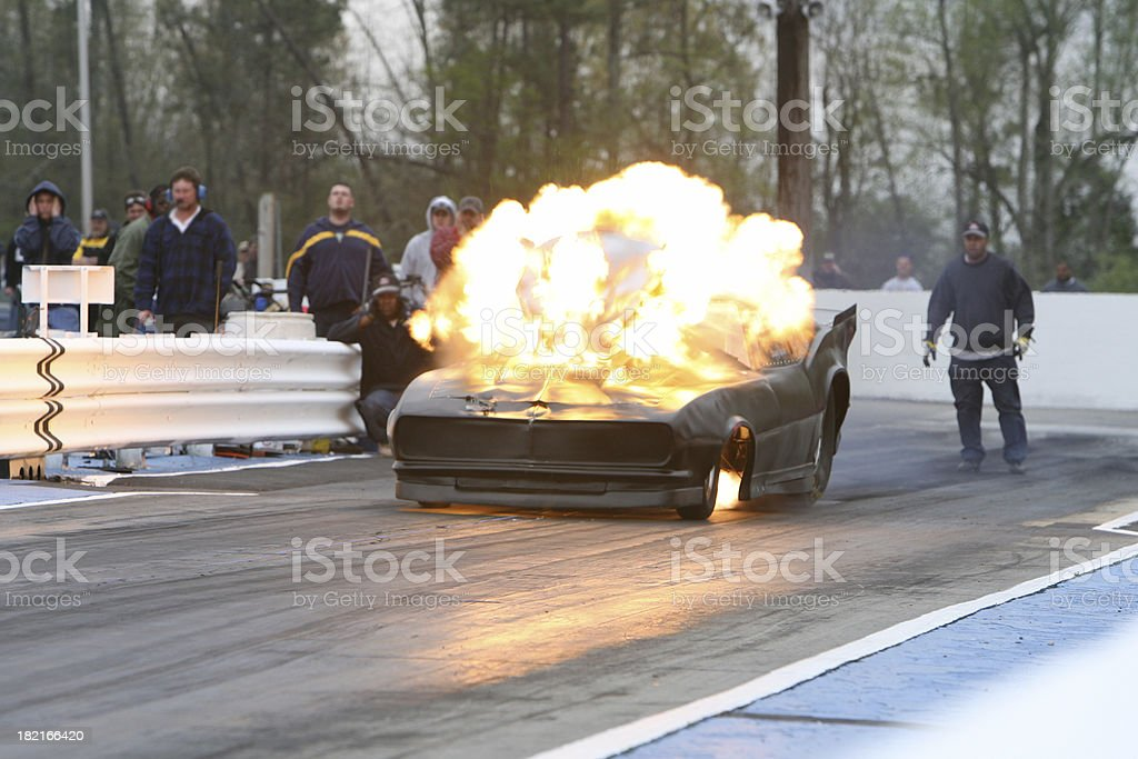 Dragster Fire stock photo