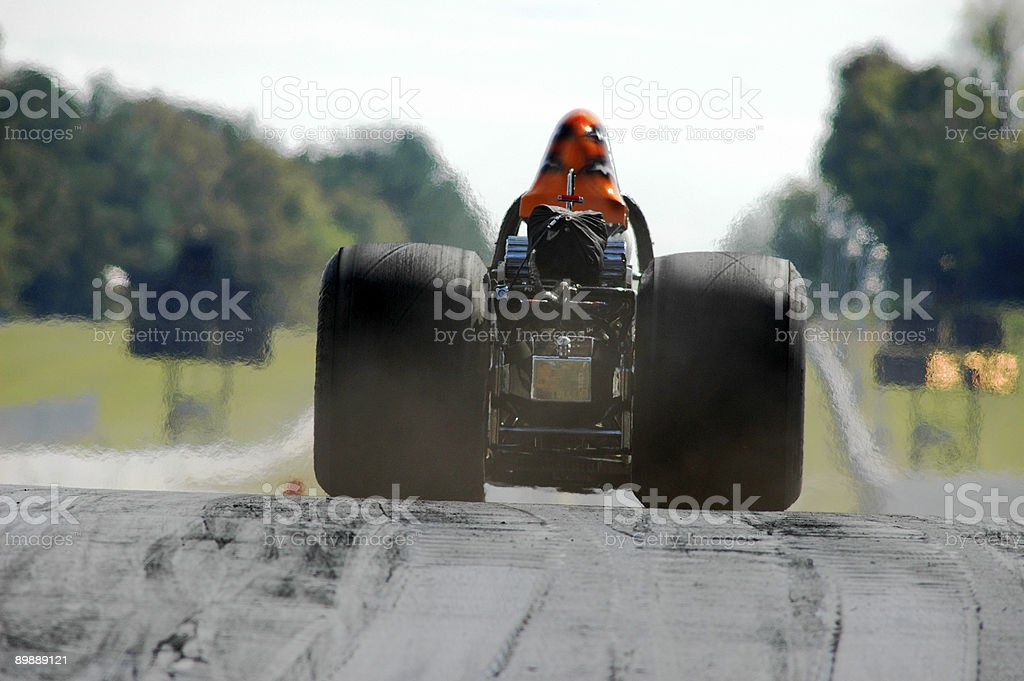 Dragster on the move stock photo