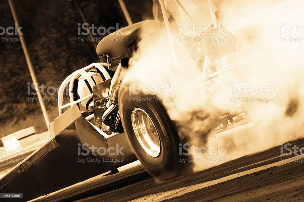 Dragster - Toned stock photo
