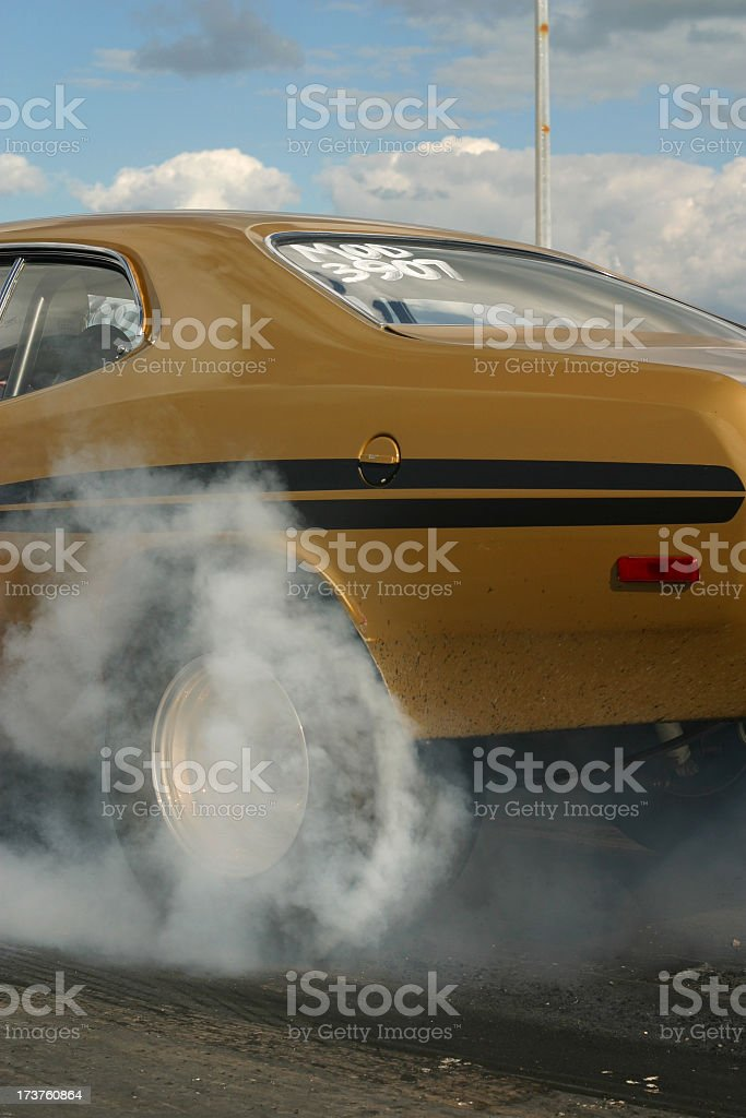 Dragway Burnout 2 stock photo