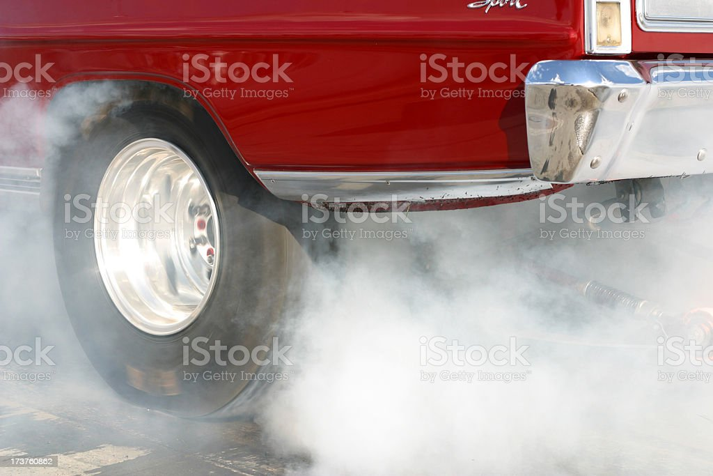 Dragway Burnout stock photo