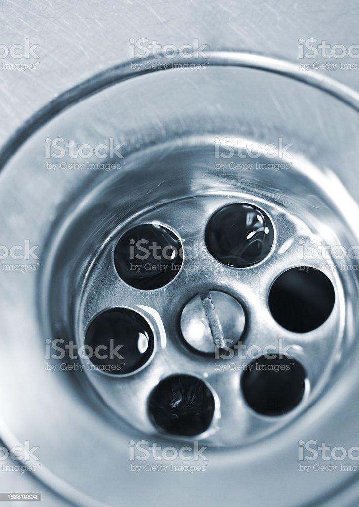 drain macro royalty-free stock photo