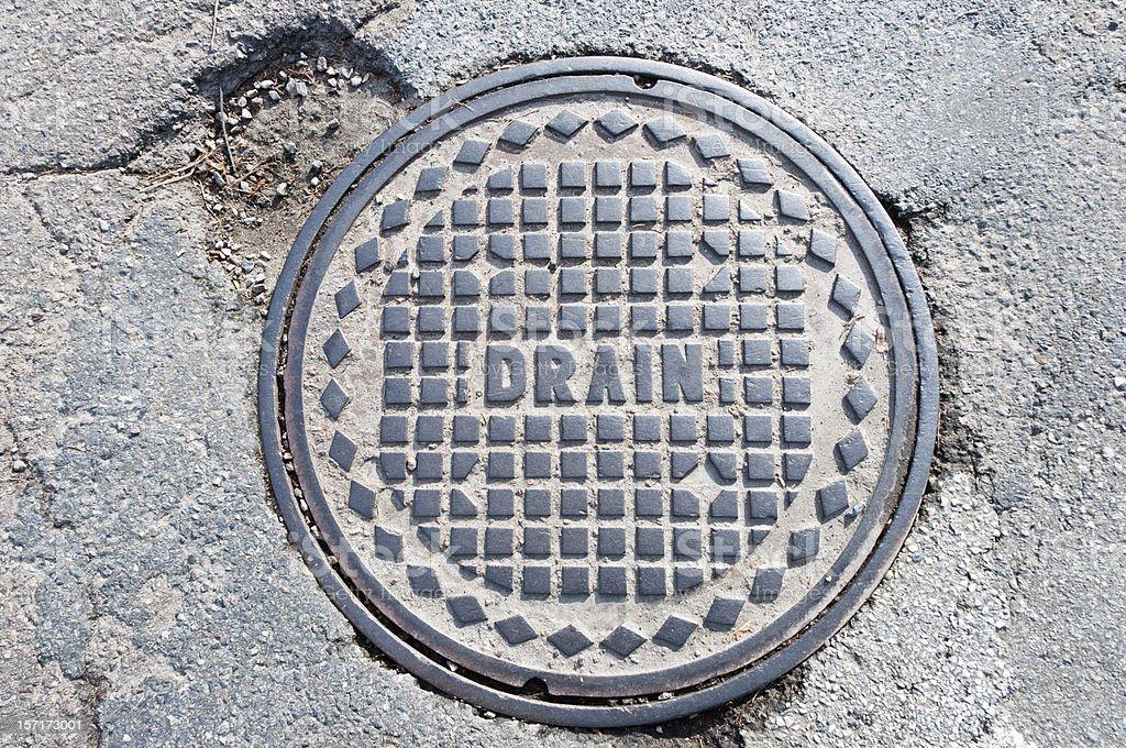 Drain Manhole Cover royalty-free stock photo