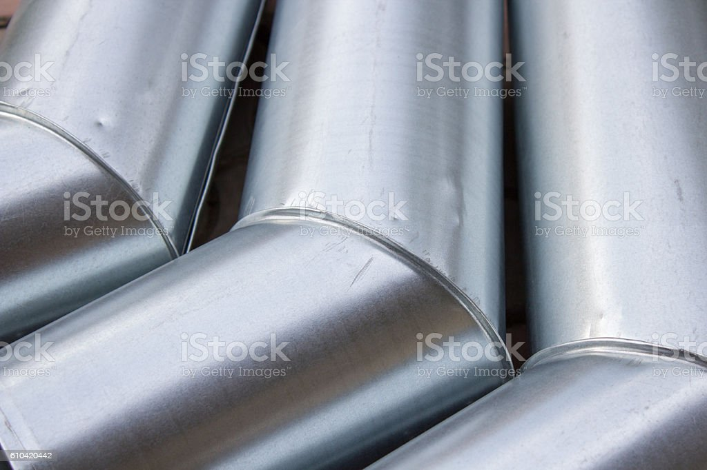 drain metal galvanized pipes stock photo