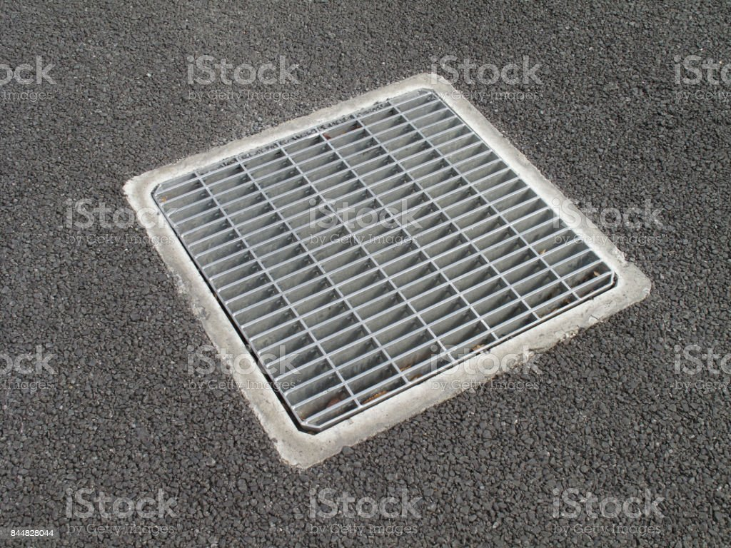Drain outlet stock photo
