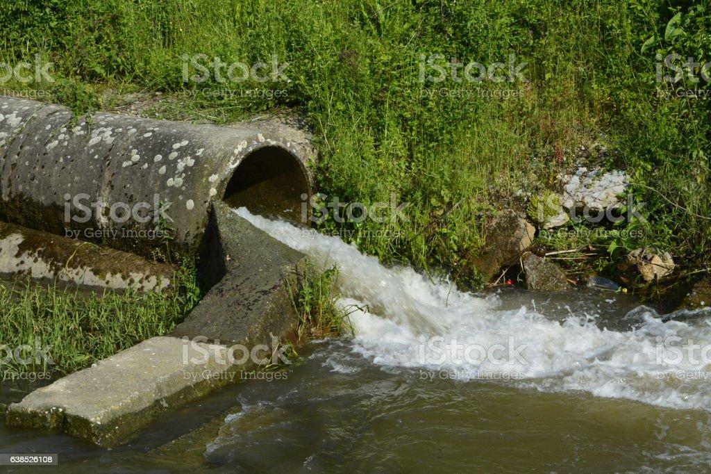 drain, river stock photo