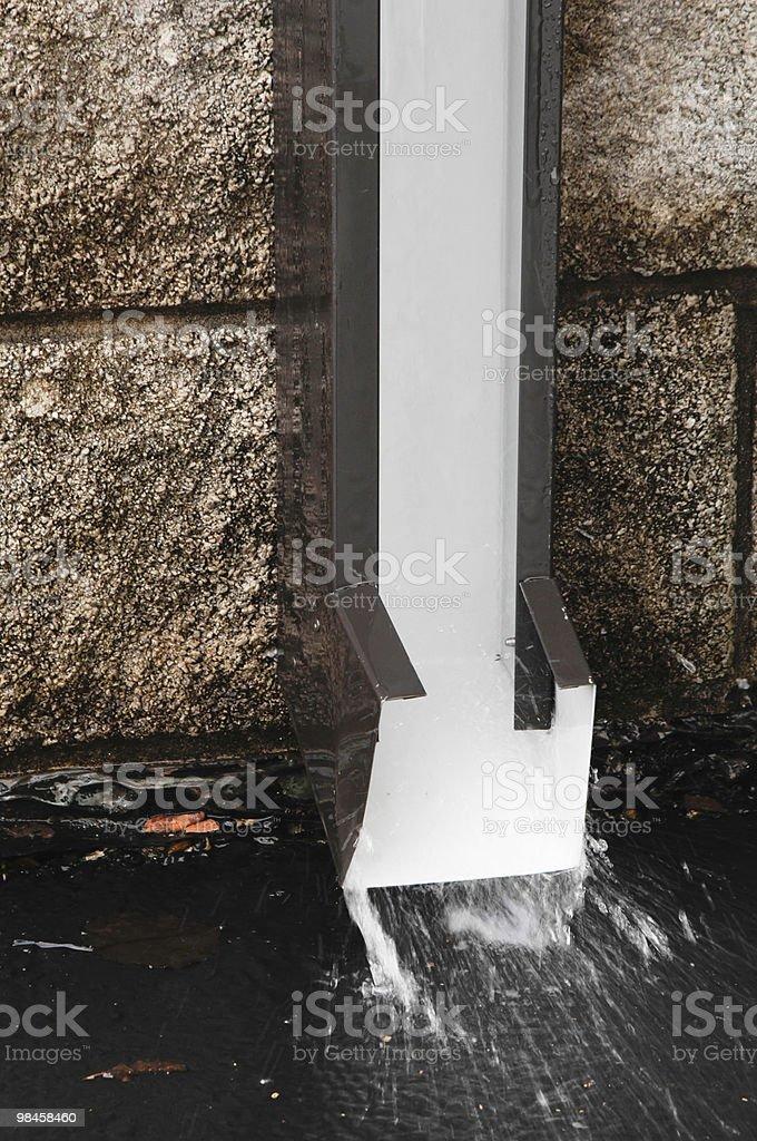 Dettaglio di drenaggio di primavera con motion blur deflusso foto stock royalty-free