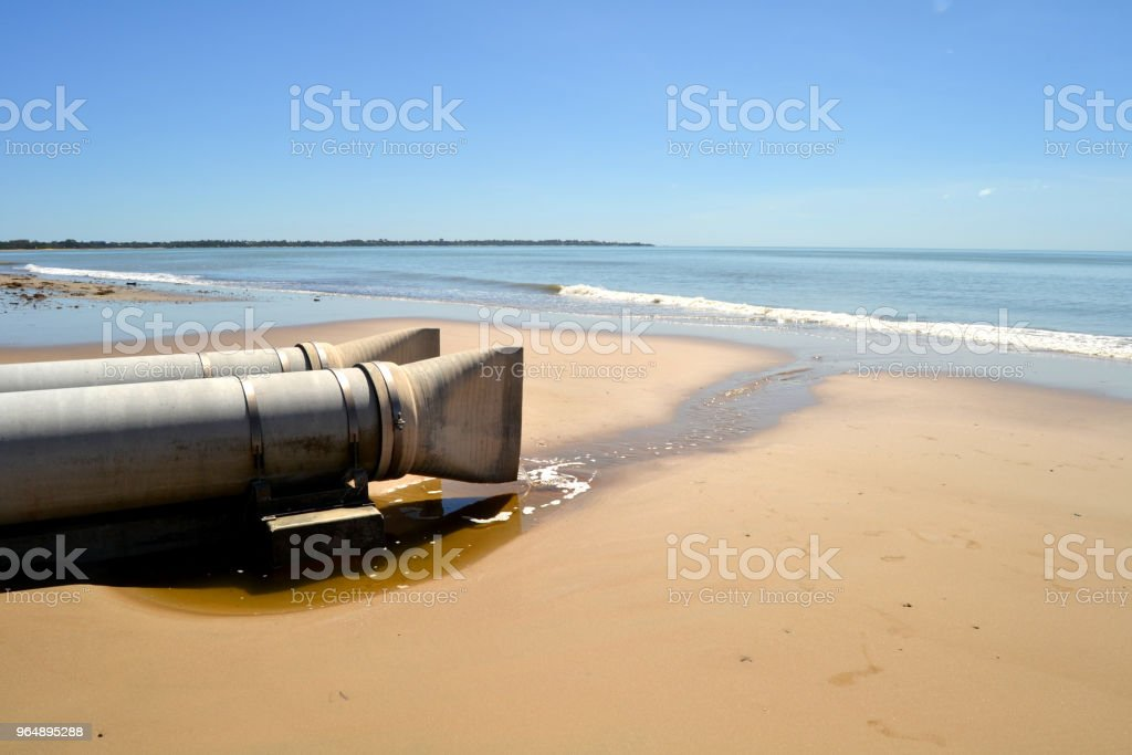Drainage Pipes Hervey Bay Queensland Australia royalty-free stock photo