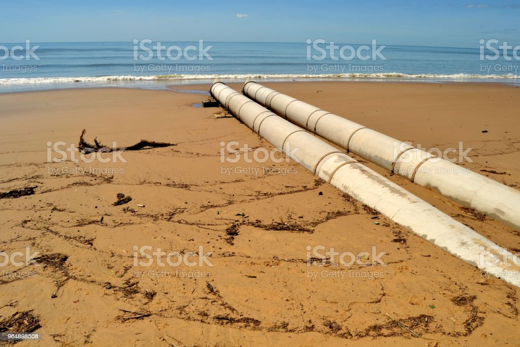 Drainage Pipes Hervey Bay Queensland Australia royalty-free stock photo
