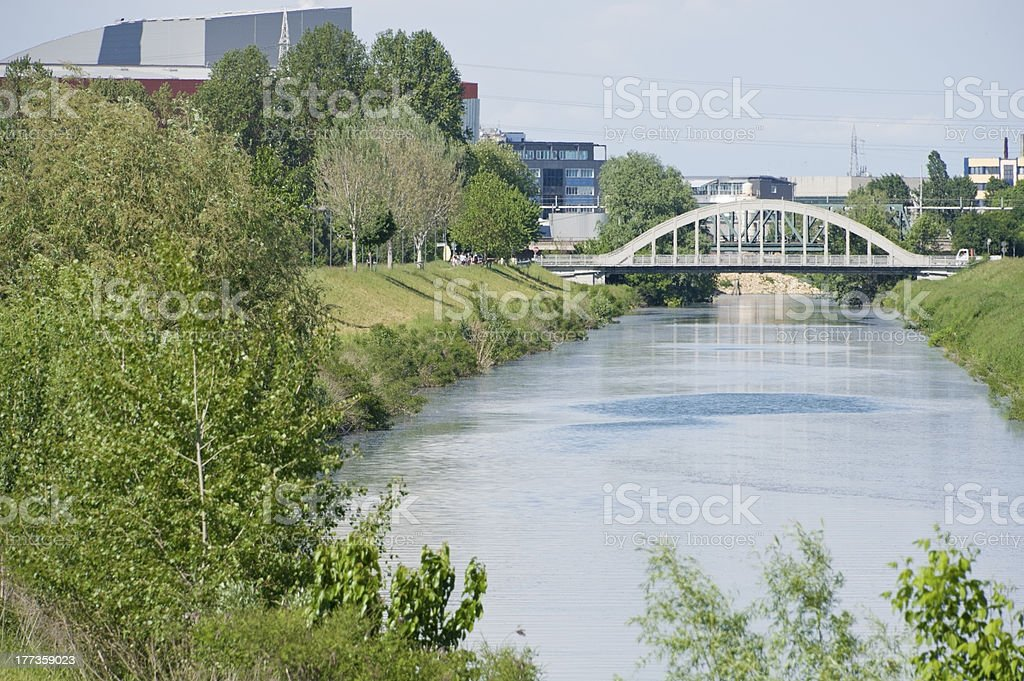 Drainage urban canal royalty-free stock photo