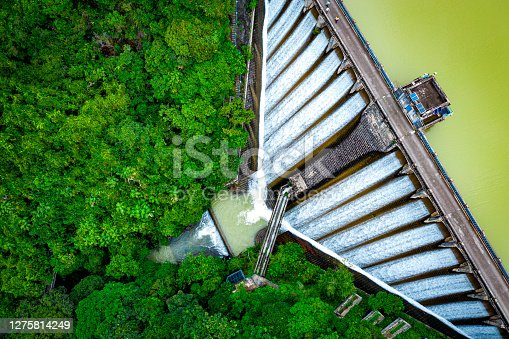 istock Draining water from the Kowloon Reservoir at Kam Shan Country Park 1275814249